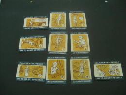 292-  Hinged Czech Rep.  -  Czechoslovakia- Children Be Safety - Matchbox Labels