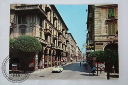 Postcard Italy - Savona, Paleocapa Street -  Old Citroën DS Yellow Car - Unposted - Savona