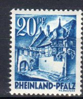 """Allemagne - 1947: Occupation Française """"Timbres Du RHENO-PALATIN""""   N° 7* - Zona Francese"""
