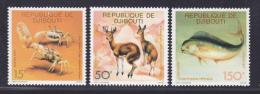 DJIBOUTI N°   473 à 475 ** MNH Neufs Sans Charnière, TB - Djibouti (1977-...)
