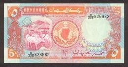 Sudan 5 Pound 1991 Pick 45 UNC - Soudan