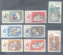 HONGRIE EXPOSITION DE BRUXELLES COMPLETE SET SERIE COMPLETA AÑO 1958 YVERT NRS. AERIENNES 198-205 TBE - Luftpost