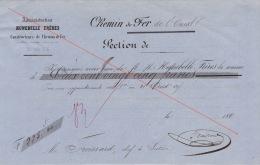 Reçu 1860 Chemin De Fer De L'ouest Section Guingamp à Brest Construction Des Gares Froissard Chef De Section - Documents Historiques
