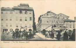 ITALIE  CHIAVARI  Via Vitt  Emanuele  1860  2 Scans - Genova