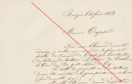 1862 Carrière De Trept Grive Chemin De Fer Ligne D´italie Pierre Pour Cessieu Tour Du Pin Saint Andre Du Gaz - Documents Historiques