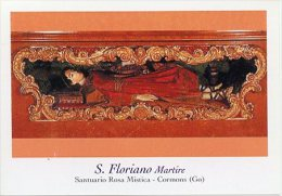 Cormons GO - Santino SAN FLORIANO MARTIRE, Santuario Rosa Mistica - PERFETTO H44 - Religion & Esotericism