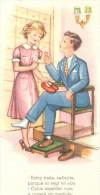 POSTAL   ESTOY TRISTE SEÑORITA  (  PELICULERIAS  COLEC. E  DE DIEZ POSTALES ) - Tarjetas Humorísticas