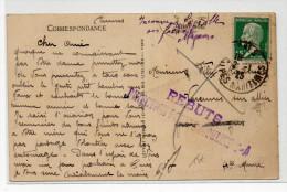 """1925 - CP De CANNES (ALPES MARITIMES) MISE AUX REBUTS - RARE CACHET """"REBUTS / DIRECTION POSTES MOULINS"""" - PETAIN - France"""