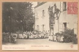 SALORNAY Sur GUYE. - L'Ecole - Voyagée 1907 - ECOLE - ENFANT -TRES ANIMEE - Francia