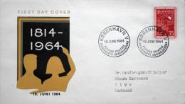 Denmark 1964 Cz.Salania FDC MiNr.420x Volkesschulen / School / école ( Lot 3080 ) - FDC