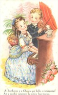 POSTAL    ESCUCHANDO MUSICA  ( SERIE 54 ) - Tarjetas Humorísticas