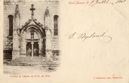 CPA SAINT JUNIEN (87) Le Portail de l�Eglise de Notre Dame du Pont carte pr�curseur