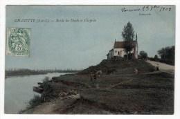 71- CHARETTE- Bords Du Doubs Et Chapelle-Cpa - France