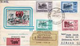 RECO-Express-Brief Argentinien > Deutschland 1960, Exposition Filatelica EFIMAYO 1960, Sehr Schöne 4 Fach Frankierung - Argentinien