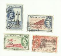 Iles Caïmans N°147 à 150 Côte 5.00 Euros - Kaimaninseln