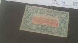 LOT 240624 TIMBRE DE COLONIE SOMALIS NEUF* N�9 VALEUR 20 EUROS