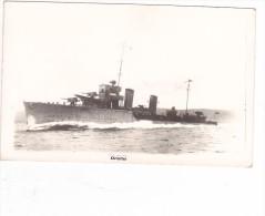 Batiment Militaire Marine Chili TBD Orelia  1928 Signee Nautical Photo Agency - Boats