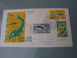 == Tunesien FDC Fische   1967 - Peces