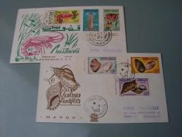 == Tunesien , 2 FDC Mérestiere  1965 - Tunisia (1956-...)