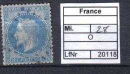 Frankreich, Mi. 28 O - 1863-1870 Napoléon III Lauré