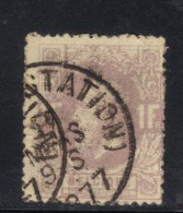 R698 - BELGIO 1866 , Leopoldo II Unificato Il N. 36 Usato. Colore Sbiadito E  Piega Al Retro - 1869-1883 Léopold II