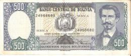 BILLETE DE BOLIVIA DE 500 PESOS  DEL AÑO 1981  (BANKNOTE-BANK NOTE) - Bolivia