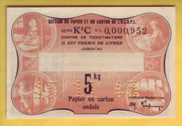 O.C.R.P.I. Section Du Papier Et Du Carton. Billet De 5 Kilos - Notgeld