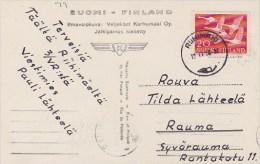 Finland; Postcard 1956 W. Nordic Stamp - Storia Postale