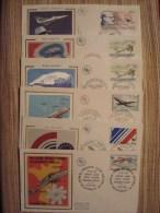 AVIONS . FRANCE ; 6 PREMIERS JOURS Des TIMBRES N° 1751.PA51.2278.2502.2544 - Avions