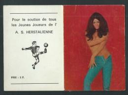 Herstal. (Liège) Petit Calendrier  1972. Pour Le Soutien De Tous Les Jeunes Joueurs De L'A.S. Herstalienne. FOOT. PIN-UP - Calendriers