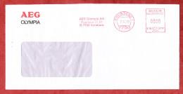 Brief, Francotyp-Postalia B66-0791, AEG Olympia, 80 Pfg, Konstanz 1988 (70917) - BRD