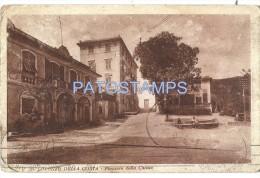 327 ITALY LORENZO DELLA COSTA GENOVA PIAZZALE DELLA CHIESA CHURCH CARTOLINA POSTAL POSTCARD - Genova (Genua)