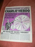 CHARLIE HEBDO 1993   N° 38    COUVERTURE  MITERRAND  / CHARB /  CABU /  WOLINSKI / SINE /  REISER / GEBE ETC ... - Magazines Et Périodiques