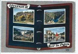 CPSM MULTIVUES SOUVENIR DE BORT LES ORGUES, CORREZE 19 - France