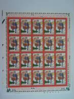 België Belgique Belgium 2000 Kerstmis Nieuwjaar Posbode Velletje Noël Nouvel An Facteur Feuillet 20 X 2942 MNH ** - Full Sheets