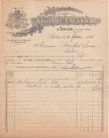 13 SALON DE PROVENCE FACTURE 1926  HUILES & SAVONS Adolphe ESCARRAT  -  C53 - 1900 – 1949