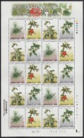 Korea South MNH Scott #2140 Minisheet Of 20 4 Different 190w Traditional Dye Plants (3rd) - Corée Du Sud
