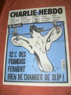 CHARLIE HEBDO 1994   N° 103  COUVERTURE  DE VILLIERS   / CHARB /  CABU /  WOLINSKI / SINE /  REISER / GEBE ETC ... - Magazines Et Périodiques