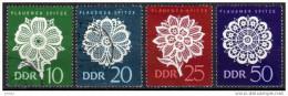DDR 1966 - Plauener Spitzen - Kompletter Satz - Textil