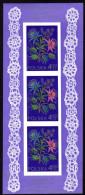 POLEN 1974 ** Stickerei Mit Blumenmotiven - Block 57 MNH - Textil