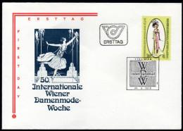 ÖSTERREICH 1979 - Wiener Damenmode - Sonderstempel FDC - Textil