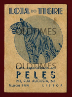 PORTUGAL - LISBOA - LOJA DO TIGRE - CASA DE PELES - CALENDARIO - 1939 OLD CALENDAR - Calendars