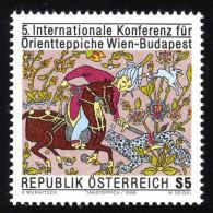 ÖSTERREICH 1986 ** Seiden Jagdteppich - MNH - Textil