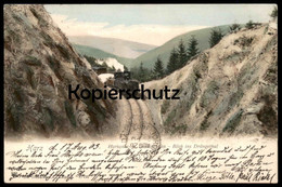 ALTE POSTKARTE HARZ LOKOMOTIVE DAMPFLOK Zug Train Steam Engine Locomotive à Vapeur Harzquerbahn Brockenbahn Drängethal