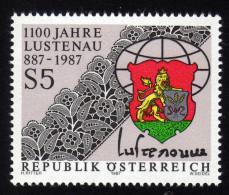 ÖSTERREICH 1987 ** Stickerei Von Lustenau - MNH - Textil