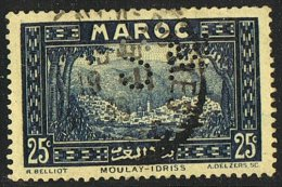 Moulay-Idris  25 Cent  Yv 135  Perforé  SM - Maroc (1891-1956)