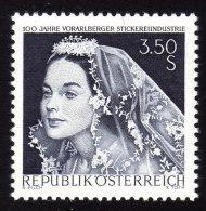 ÖSTERREICH 1968 ** Vorarlberger Stickereiindustrie - MNH - Textil