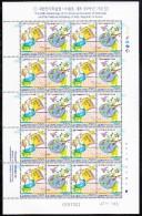 Korea South MNH Scott #2152 Minisheet Of 10 Pairs 190w National Academies Of Sciences, Arts - 50th Anniversary - Corée Du Sud