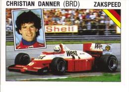 Panini Supersport Auto Sticker/Autocollant No 43  -  Christian Danner  -  Zakspeed  -   Rallye - Panini