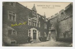 {48037} 30 Gard Aramon , Le Château , Entrée Principale - Aramon